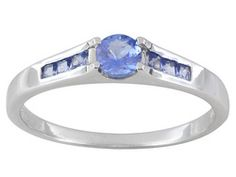 .55ctw Round Tanzanite Sterling Silver Ring