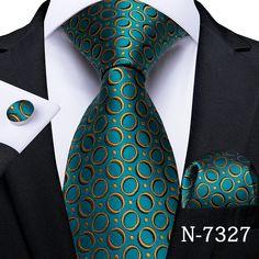 Paisley, Teal Tie, Teal Yellow, Cufflink Set, Vintage Cufflinks, Tie Set, Mens Gift Sets, Stylish Men, Silk Ties