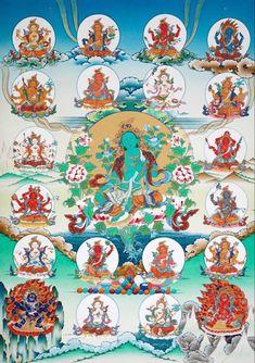 Tibetan Symbols, Tibetan Art, Tibetan Buddhism, Buddhist Art, Tantra, Green Tara Mantra, Buddhist Practices, Thangka Painting, Mandala Drawing