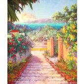 99 Steps, Original Artwork, Original Paintings, Oil Painting For Sale, St Thomas, Virgin Islands, Aphrodite, Medium Art, Oil Paintings