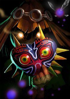 Majoras Mask, Skullkid, Legend of Zelda Fan Art