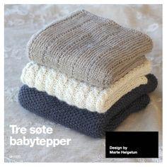 Tre søte babytepper - Design by Marte Helgetun