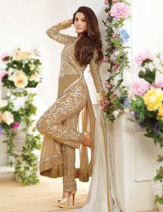 Gauhar Khan designer wear long anarkali suit