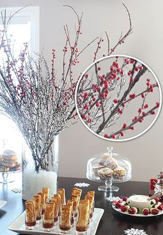 BABY ITS COLD OUTSIDE BRUNCH ~ Beautiful winter presentation ideas and great recipies to serve for a large group...Add some red berries and greenery and you have a Christmas brunch. Add some red hearts and you have a Valentine's Day brunch.