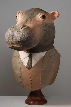 What a nice hippo. Cute Hippo, Ceramic Animals, Sculpture Clay, Wood Carving, Crocodile, Best Gifts, Cute Animals, Elephant, Pottery