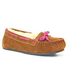 Take a look at this Wheat Sheepskin Moccasin Slipper - Women by Staheekum on #zulily today!