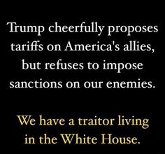 Russian Sanctions should have already been implemented I  response to multiple Russian attacks on America, but Trump refuses. There is only one reason to refuse to defend America against proven Russian attacks & refuse to  implement Congressionally approved Russian Sanctions: he's been colluding with Russia.