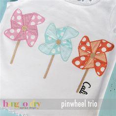 love pinwheel applique design @ hang to dry