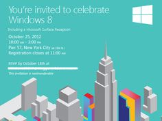 Microsoft sends out invitations for Windows 8's October 25th launch | WinBeta