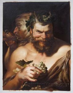 Two Satyrs  Sir Peter Paul Rubens hand-painted by PaintingMania