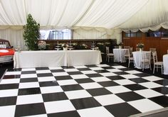 wedding events water proof black and white dance floors