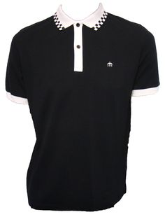Nova Checkerboard Collar Polo Shirt by Merc London.  Available at http://www.apacheonline.co.uk