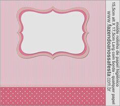 Rayas y Lunares Blanco y Rosa: Etiquetas para Candy Bar para Imprimir Gratis.