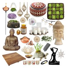 Meditation Room by veektoereeah on Polyvore featuring interior, interiors, interior design, maison, home decor, interior decorating, Karma Living, Polaris, H&M and CB2