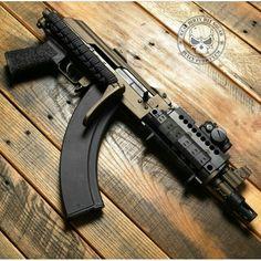 AK Pistol with a folding stock. Weapons Guns, Guns And Ammo, Ak Pistol, Battle Rifle, Custom Guns, Fire Powers, Military Guns, Arsenal, Assault Rifle