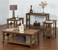 Coventry Burnish Mocha 3pc Coffee Table Set w/End Table