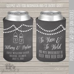 To Have To Hold Barn Wood Rustic Wedding Can Cooler ...
