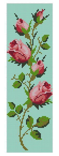 """""""Really nice Cross-Stitch towel flowers patterns."""", """"Discover thousands of images about Fuchsia Cross Stitch"""" Cross Stitch Bookmarks, Crochet Bookmarks, Cross Stitch Rose, Cross Stitch Borders, Cross Stitch Flowers, Cross Stitch Charts, Cross Stitch Designs, Cross Stitching, Cross Stitch Embroidery"""