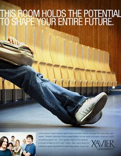 Xavier University Print Ad by Young Creative Group , via Behance