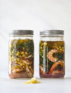 This pickled shrimp is so delicious and comes together super quickly! It's amazing when served with crusty bread or on top of an avocado and some butter lettuce. Shrimp Avocado Salad, Avocado Salad Recipes, Avocado Salat, Kentucky Derby, A Food, Food And Drink, Butter Shrimp, Old Bay Seasoning, Pickling