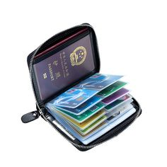 70f749819ed RFID Antimagnetic Genuine Leather 40 Card Slots Card Holder Passport  Storage Bag sales at a good price. Come to Newchic to buy a wallet