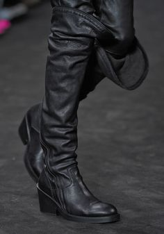 Ann Demeulemeester. I want these boots and everything else in that collection.
