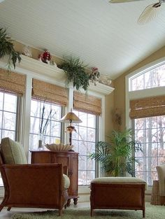 our season room - traditional - living room - Magnotta Builders & Remodelers Like the idea of the shelves and the window shades. Sunroom Window Treatments, Sliding Door Window Treatments, Window Coverings, Beach Style Window Treatments, Tropical Window Treatments, Picture Window Treatments, Traditional Window Treatments, 3 Season Room, Three Season Room