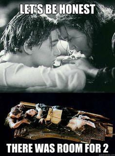 Se Rose non avesse mangiato l' intero Titanic forse Jack sarebbe ancora tra noi
