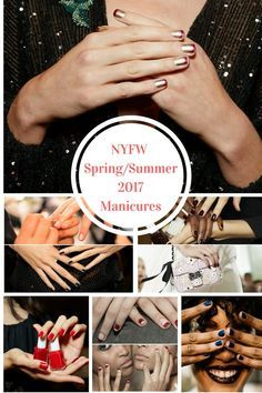 NYFW Spring Summer 2017 Manicures featuring JINsoon and essie creations for Vera Wang, Monique Lhuillier, Michael Costello