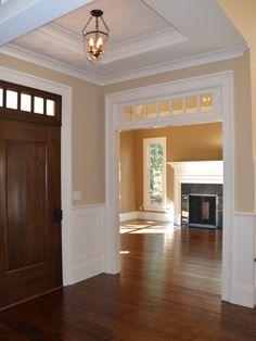 door, window over doorway, ceiling and wall colors