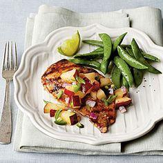 Pan-Grilled Chicken with Fresh Plum Salsa | MyRecipes.com