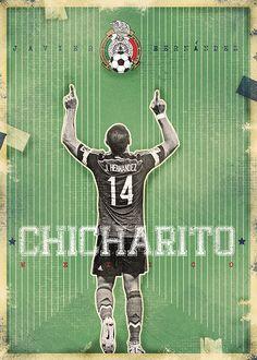 "The Gods Of Football (Part II) by Marija Marković on Behance — Javier Hernández ""Chicharito""  Gutiérrez, Mexico"