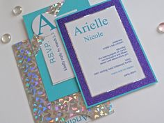 Colorful Handmade Event Invitation with Purple