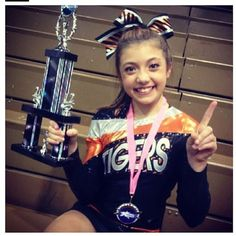 kylie  she inspires me to tumble better try harder and fly like i actually are not scared my bases will drop me + she inspires me to have more feeling while cheering!