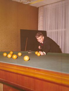peterfromtexas:Ceausescu, former dictator of Romania, focusing while playing billiard with oranges Badass Aesthetic, Big Star, Romania, Mobsters, Grenades, Cold War, Barber, Editorial, Aesthetics