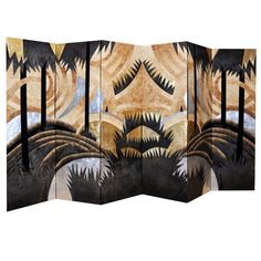 A Vintage Pair of Large Art Deco Lacquer Screens | From a unique collection of antique and modern screens at http://www.1stdibs.com/furniture/more-furniture-collectibles/screens/