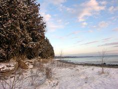 A stunning #winter shoreline in #DoorCounty www.doorcounty.com
