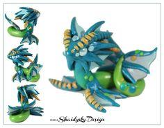 Polymer Clay Commission - Sea Dragon by ShaidySkyDesign.deviantart.com on @deviantART