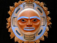 Mid Summer Moon Mask by Klatle-bhi (Kwakwaka'wakw).