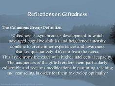 Reflection on Giftedness