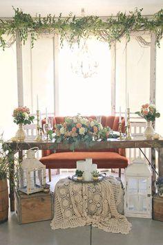 #vintage #coral #wedding styled by @blushcreek. #weddingstylist #weddingrentals