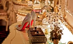 Shimmery, sparkly #ChristianLouboutins #RedBottoms