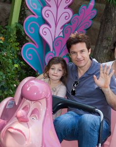 Jason Bateman and Daughter Francesca in Fantasyland at Disneyland Park