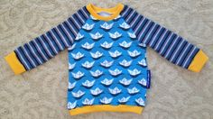Handmade blue shirt with white paper boats by NoNiMadewithlove
