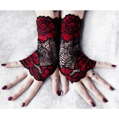 Fall Wedding Gothic Arm Warmers Regency Tribal Bellydance Goth Vampire ($44) ❤ liked on Polyvore featuring accessories, gothic arm warmers and goth arm warmers