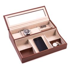 upto 65% off  Personalized Brown Leather Men's Valet   WAUCUST949310…