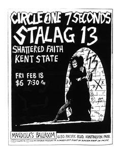 7 Seconds, Psychobilly, New Wave, Punk Rock, Flyers, 1980s, Crime, Faith, Paper