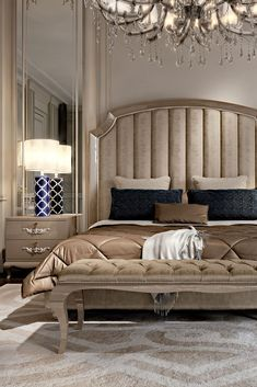 High End Italian Upholstered Storage Bed - Juliettes Interiors Bedroom Colors, Bedroom Sets, Bedroom Decor, Ladies Bedroom, Bed Linen Design, Bed Design, Master Bedroom Design, Modern Bedroom, Master Suite