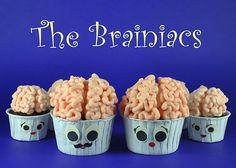brain cupcakes cute halloween idea