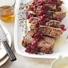 B. Smith's Bourbon-Cranberry Bread Pudding  - CountryLiving.com